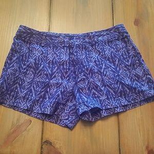 Cynthia Rowley Blue Pattern Shorts